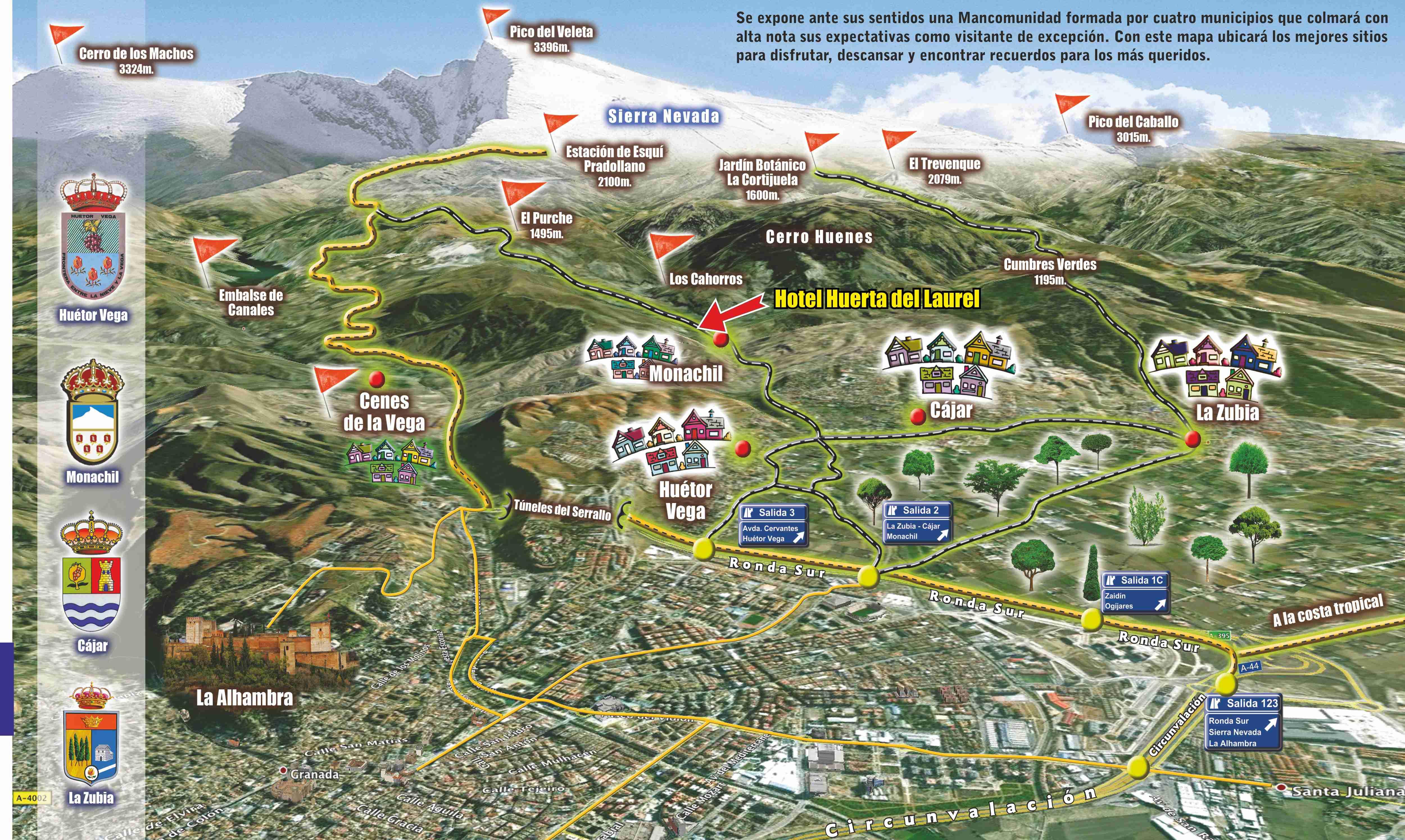 Los Cahorros Monachil Mapa.Hotel Rural Huerta Del Laurel Monachil Granada Sierra Nevada